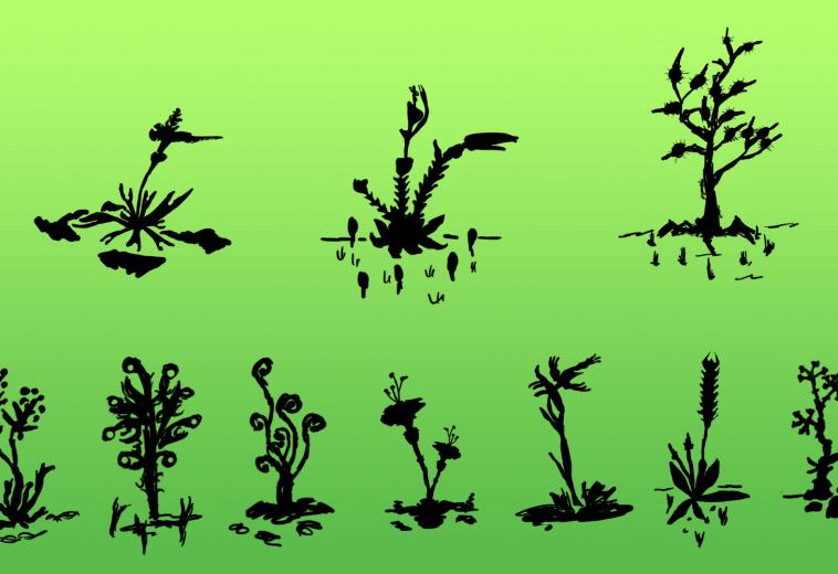 Thumbnail-Skizzen: Pflanzen